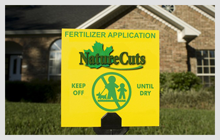 Nature Cuts yard sign
