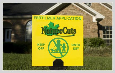Nature Cuts yard sign